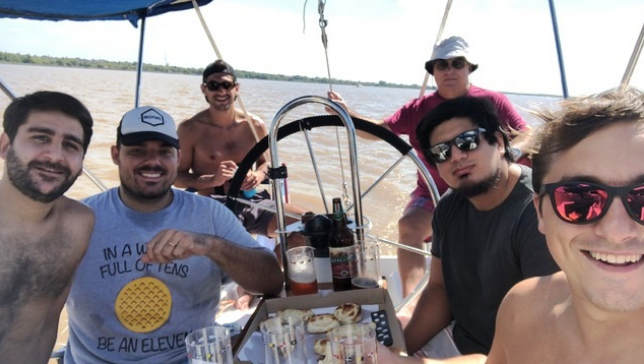 Sailing in the River Plate to Uruguay