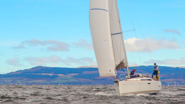 Sail along the stunning Scottish coastline on an impressive sailboat