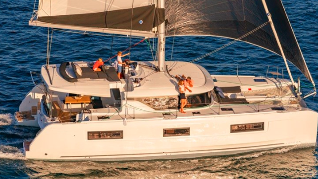 Incredible trip through the waters of the Caribbean by catamaran